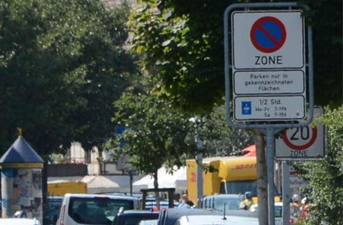 Im Echterdinger Osten wird das  Parkraumkonzept Mitte August umgesetzt. Foto: Braitinger