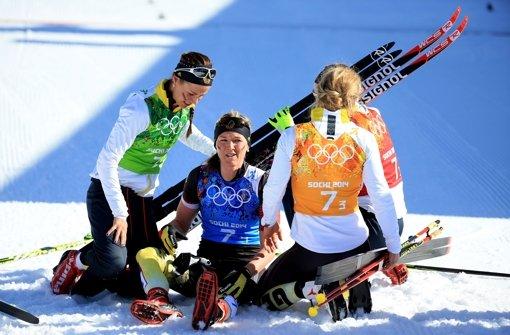 Deutsche Langläuferinnen überraschen mit Bronzemedaille