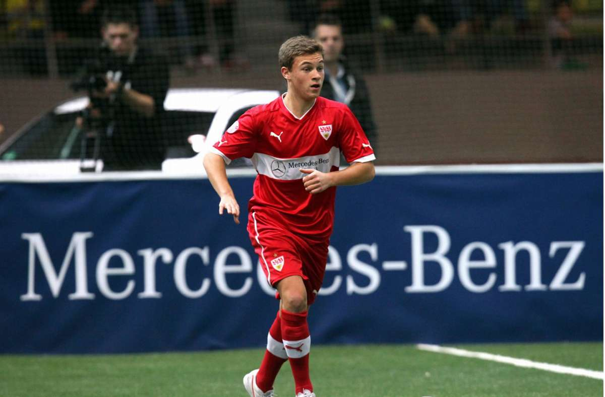 Einer seiner letzten Auftritte im VfB-Trikot: Joshua Kimmich 2013 beim Junior-Cup im Sindelfinger Glaspalast. Foto: imago/Pressefoto Baumann