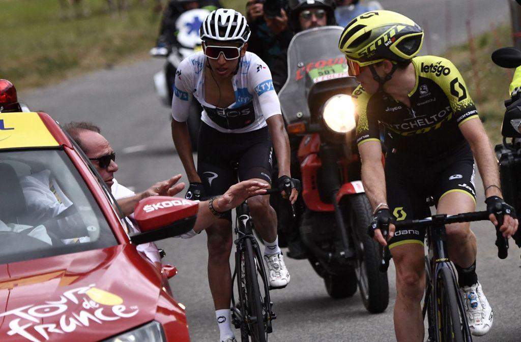 Die Fahrer konnten die 19. Etappe der Tour de France nicht beenden. Foto: AFP