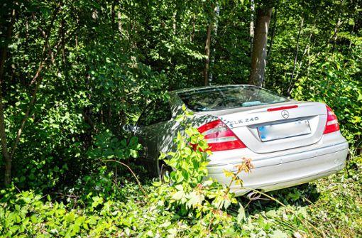 80-Jähriger steuert Mercedes eine Böschung hinab
