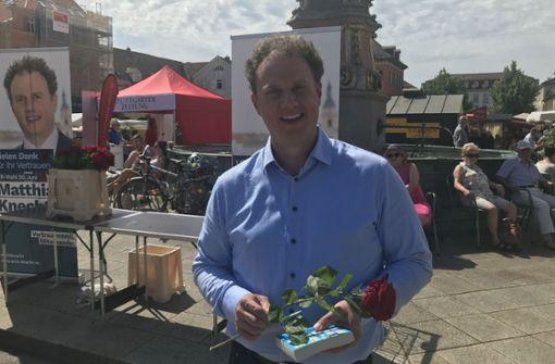 Matthias Knecht dankt den Wählern