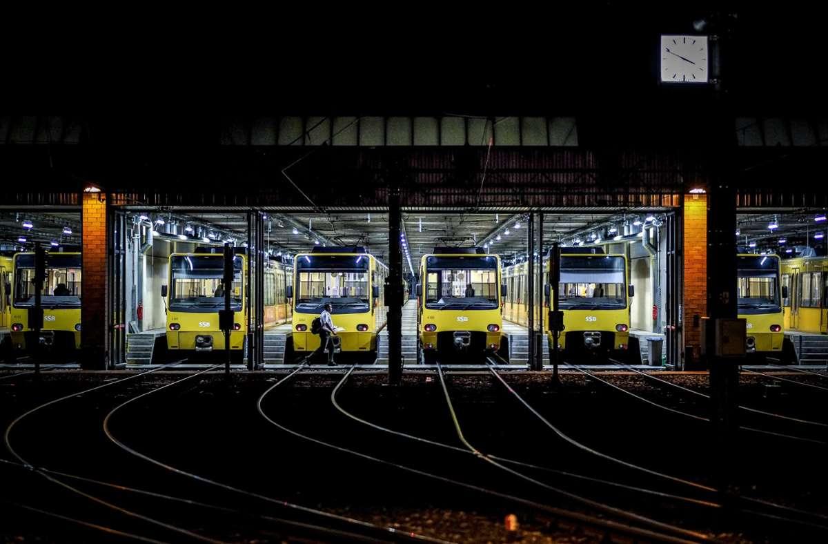 So wie jetzt schon in Vaihingen werden auch in Weilimdorf die Stadtbahnzüge auf ihren Einsatz warten. Foto: Lichtgut/Leif Piechowski