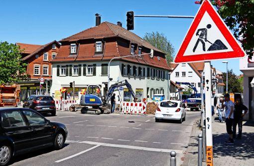 Sanierung der Solitudestraße sorgt für Stau