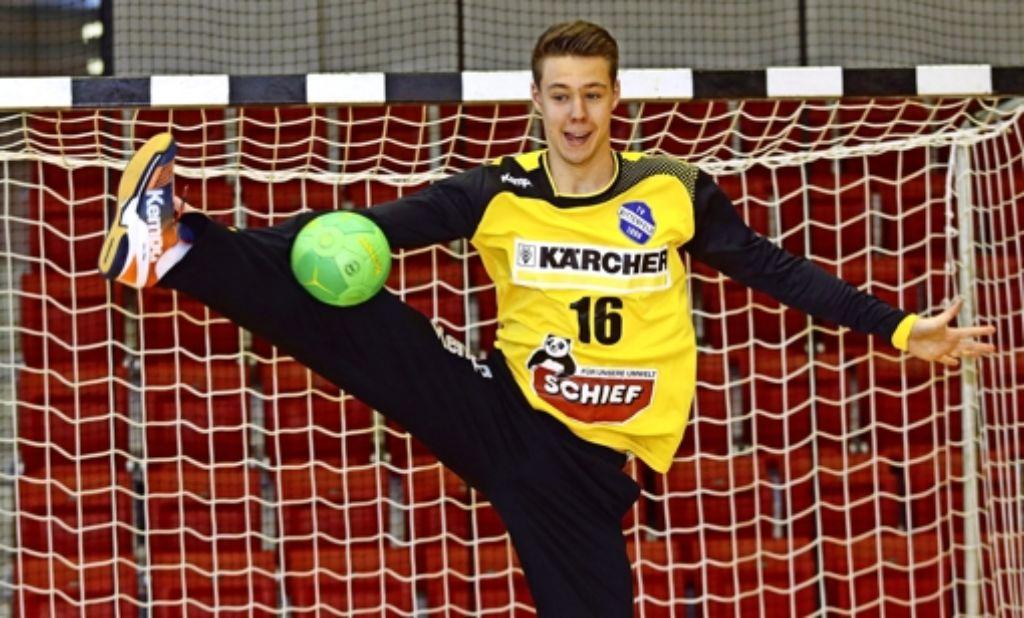 Der Mann mit der großen Spannweite: Sebastian Arnold steht im Kader des Erstligisten TVB Stuttgart. Foto: Pressefoto Baumann