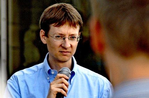 Der Sprecher der Initiative Parkschützer Matthias von Herrmann Foto: Norbert J. Leven