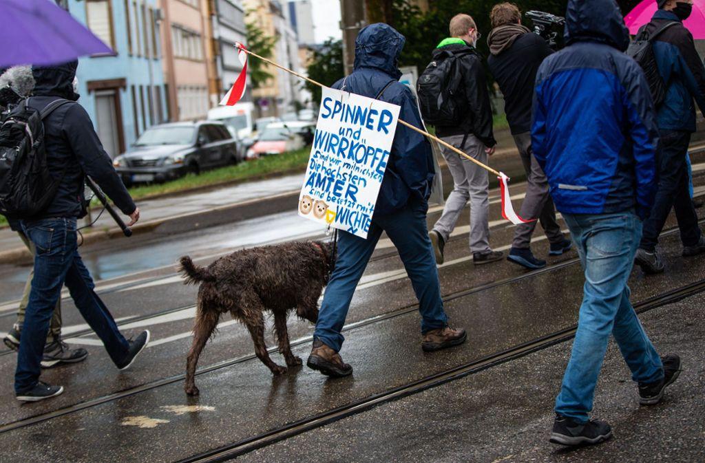 Unterwegs zum Demonstrieren auf dem Cannstatter Wasen. Foto: Lichtgut/Christoph Schmidt