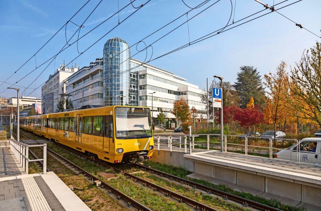 Auch Stadtbahnlinien sollen den Synergiepark  vom Verkehr entlasten. Foto: Thomas Krämer
