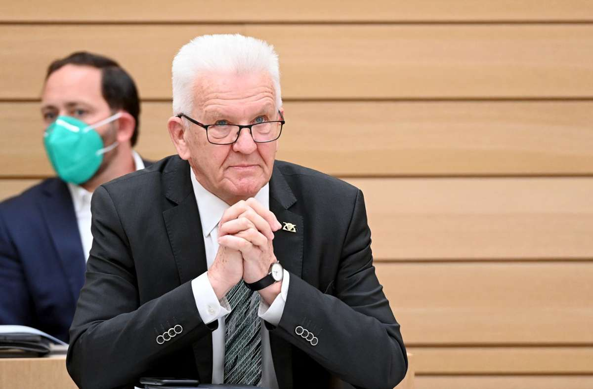 Winfried Kretschmann (Bündnis 90/Die Grünen), Ministerpräsident von Baden-Württemberg. Foto: dpa/Bernd Weissbrod
