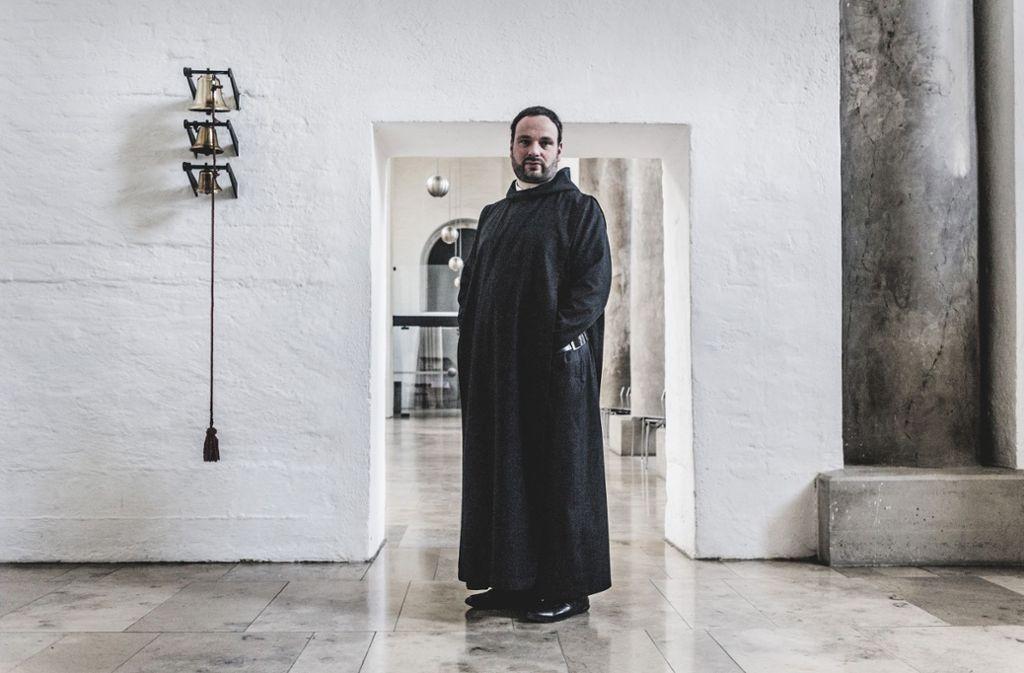 Nikodemus in der Kirche der Münchner St.-Bonifaz-Abtei, wo er regelmäßig Gast  sein darf. Foto: Andreas Reiner