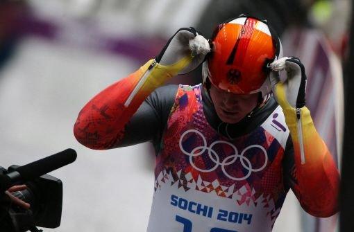 Rodler Felix Loch startet als Zweiter