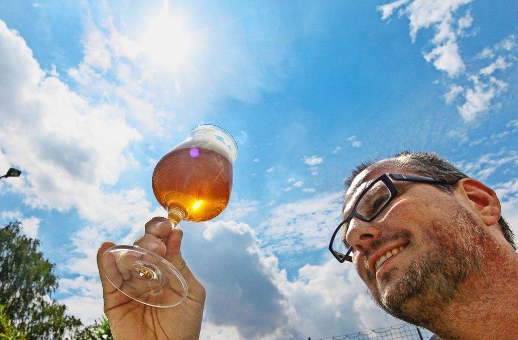 Gutes Bier müsse  gut aussehen und  gut schmecken, sagt Frank Di Marco. Foto: factum/Granville