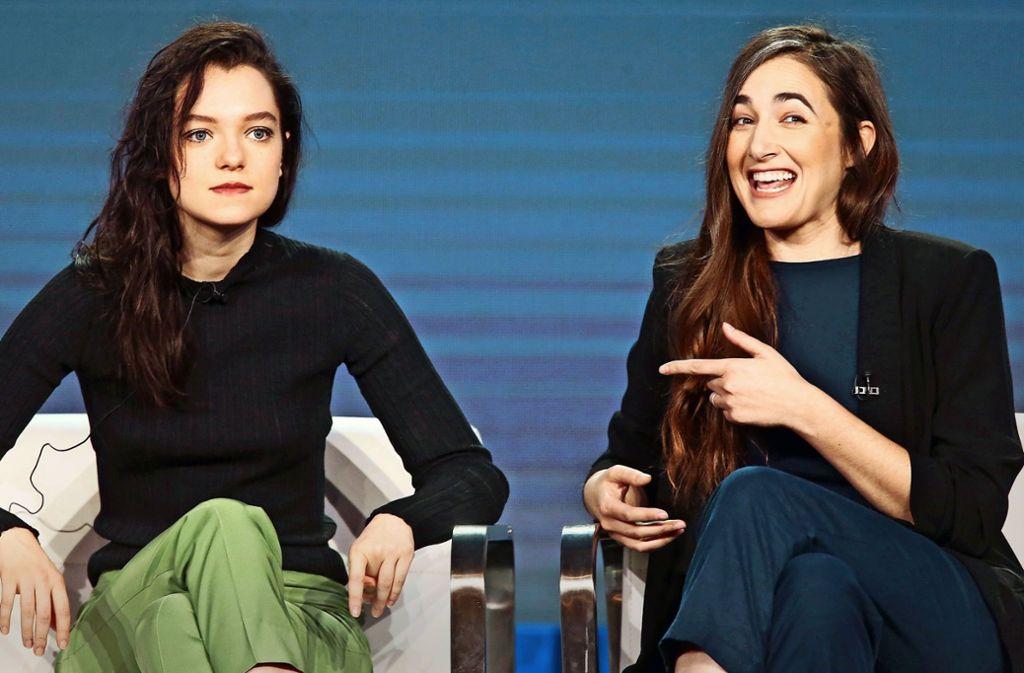"""Esmé Creed-Miles (links) spielt die Titelrolle in der Serie """"Hanna"""", Sarah Adina Smith hat bei den ersten beiden Episoden Regie geführt. Foto: Getty"""
