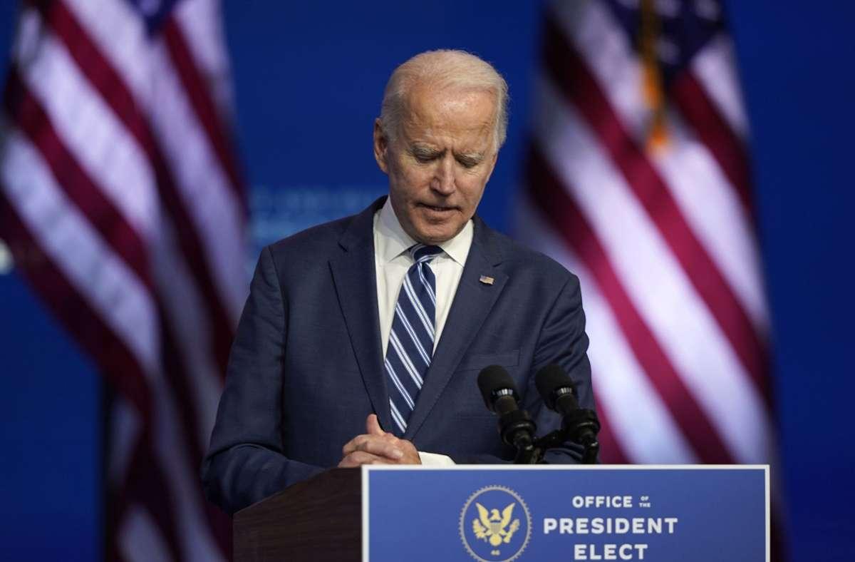 Muss versöhnen : der neue US-Präsident Joe Biden Foto: dpa/Carolyn Kaster