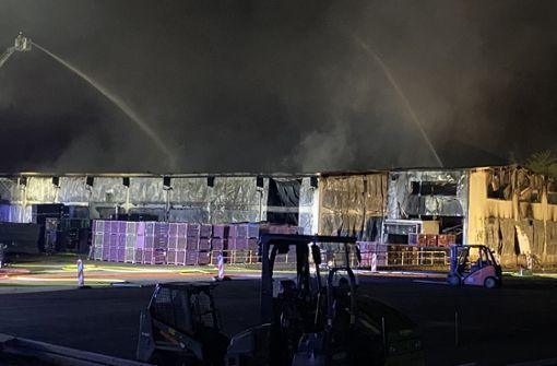 Millionenschaden bei Großbrand in Kunststoff-Firma