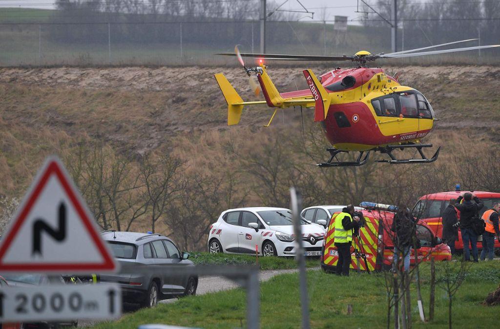 Im Elsass ist ein TGV entgleist. Es gab mehrere Verletzte. Foto: AFP/PATRICK HERTZOG