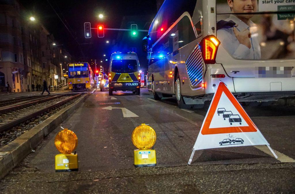 Der Unfall ereignete sich im Stuttgarter Westen. Foto: 7aktuell.de/Andreas Werner