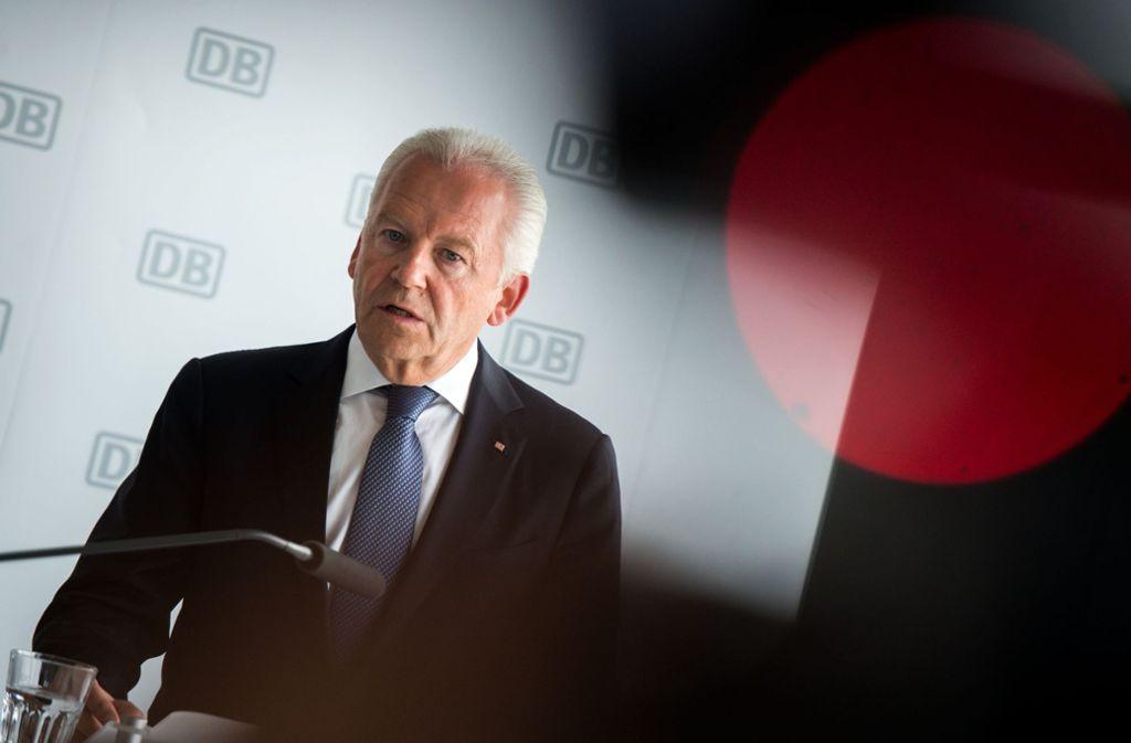 Ex-Bahn-Chef Rüdiger Grube hat 2017 viel Geld vom Staatskonzern erhalten – trotz seines Abgangs bereits im Januar. Foto: dpa