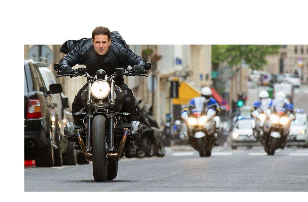 Schnell Motorrad fahren  kann Tom Cruise nach wie vor – aber anders als früher lässt er die Zuschauer  an seiner Reifung teilhaben Foto: Verleih