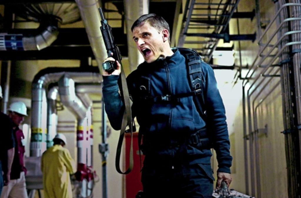"""Der Mann, der mit Sabotage droht: Florian Lukas als   David Kollwein im deutschen AKW-Thriller """"Tag der Wahrheit"""". Foto: Arte"""