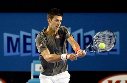Boris Becker übt mit Djokovic