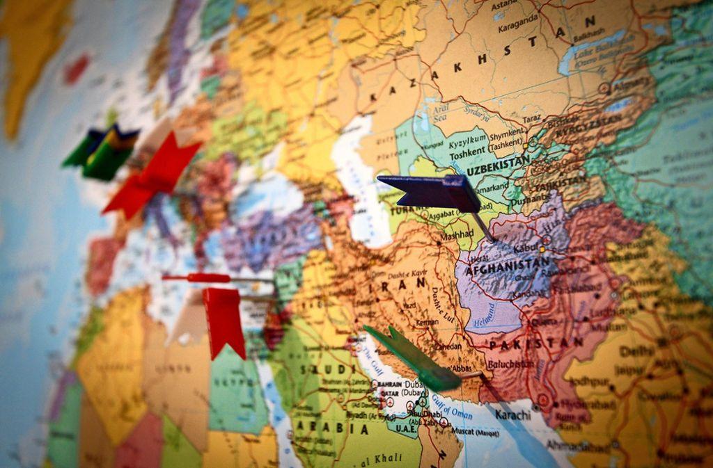 Eine Karte im Leonberger Haus zeigt, woher die Menschen kommen. Foto: factum//Simon Granville