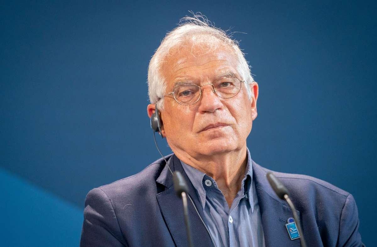 In  der durch den EU-Außenbeauftragten Josep Borrell verbreiteten Erklärung warfen die EU-Staaten den russischen Behörden zudem vor, Journalisten und Unterstützer Nawalnys festgenommen zu haben. (Archivbild) Foto: dpa/Kay Nietfeld