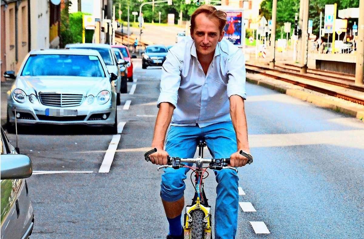 Thijs Lucas ist Fahrezugingenieur, fährt in Stuttgart aber nur selten Auto.. Foto: S. Hintermayr