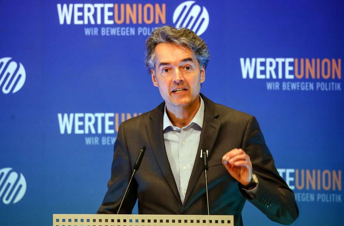 Alexander Mitsch, früherer Vorsitzende der Werte-Union. (Archivbild) Foto: dpa/Christoph Schmidt