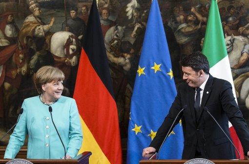Merkel und Renzi sind sich einig