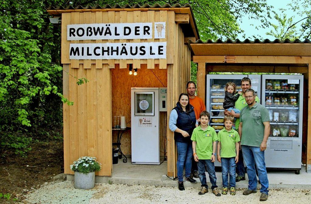 Für das Roßwälder Milchhäusle haben sich drei landwirtschaftliche Betriebe zusammengetan. Foto: Stadt Ebersbach