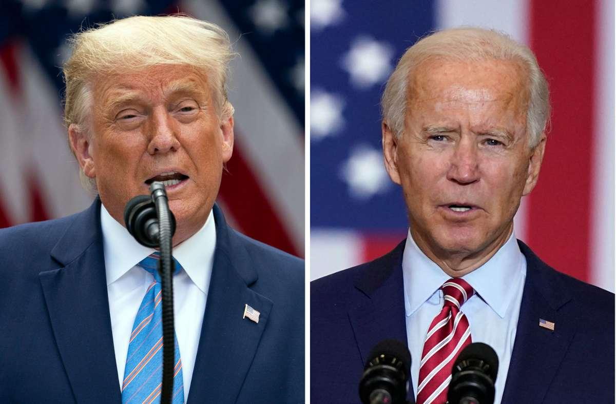 Donald Trump oder Joe Biden? In wenigen Woche entscheiden die US-Bürger über ihren neuen Präsidenten. Foto: dpa/Evan Vucci