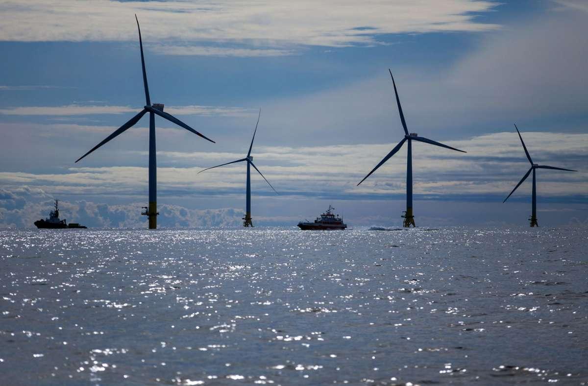 Bei Baltic 2 sind rund 80 Windkraftanlagen in Betrieb. (Archivbild) Foto: dpa/Jens Büttner