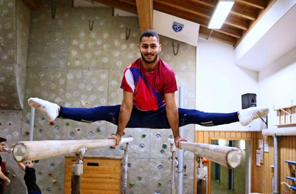 Der Iraker Yasir Al-Dulaimi stammt aus einer Turn-Familie. Foto: Eva Herschmann