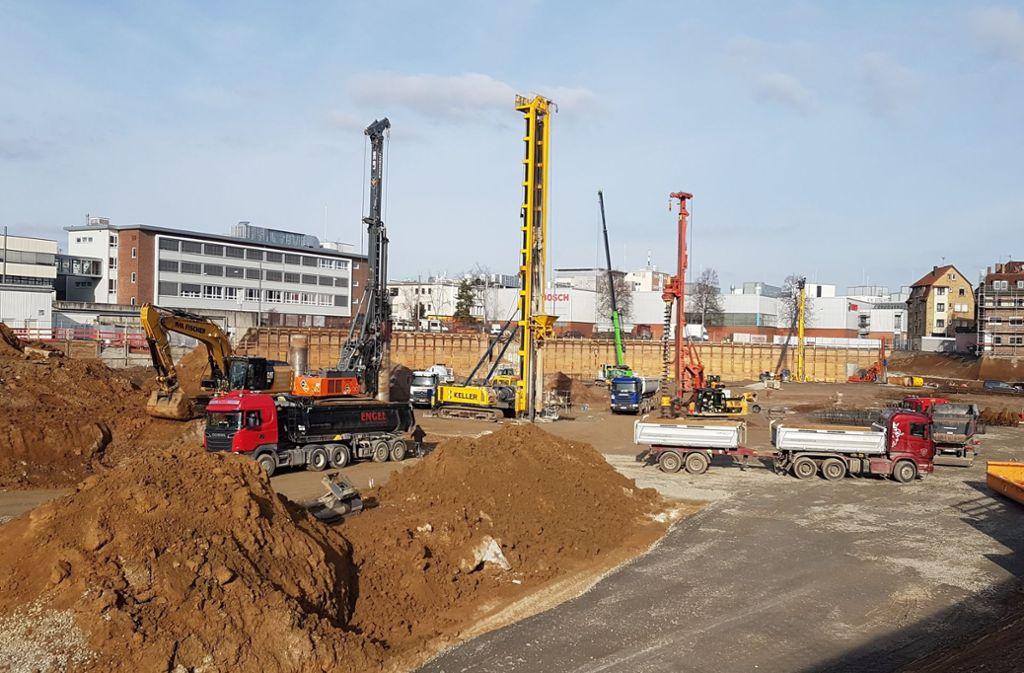 Ein  Teil des Untergrundes  auf dem Bosch-Gelände war sehr stark mit Teerölen belastet. Foto: