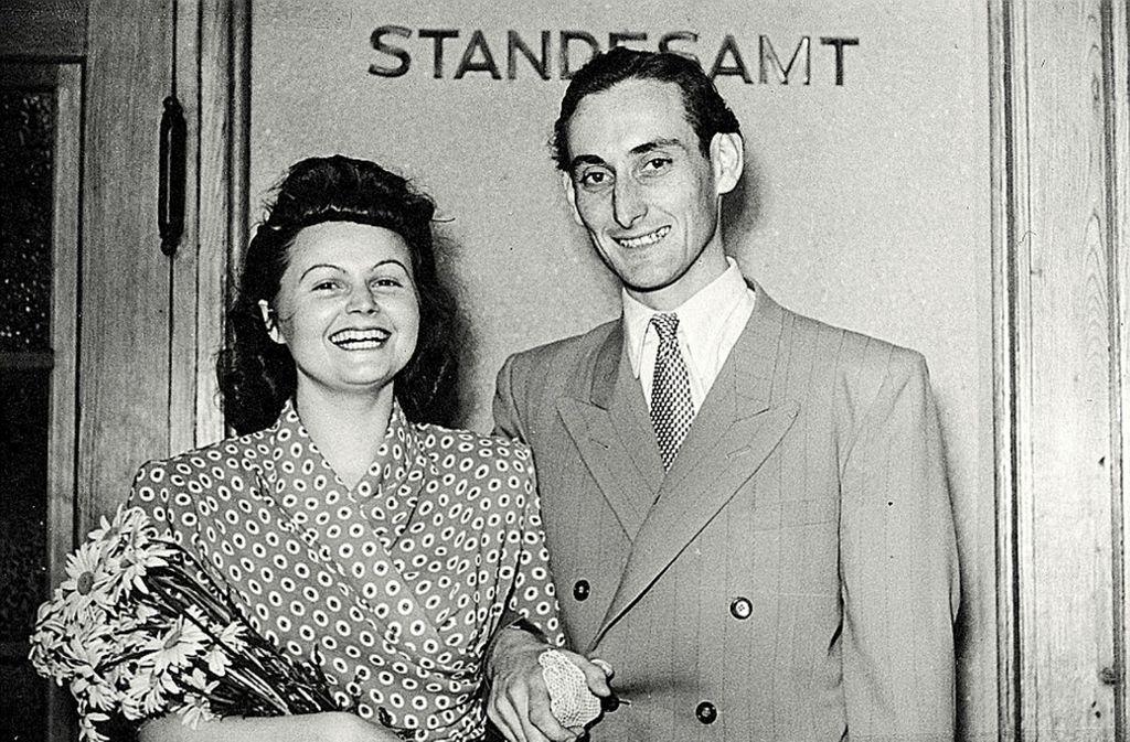 Walter Schultheiß und Trudel Wulle bei der Hochzeit im Jahr 1950. Foto: Privat