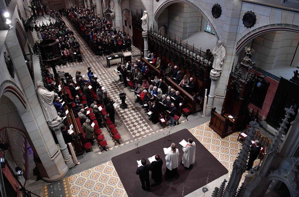 Gottesdienst am Reformationstag in der Wittenberger Stadtkirche Foto: AFP