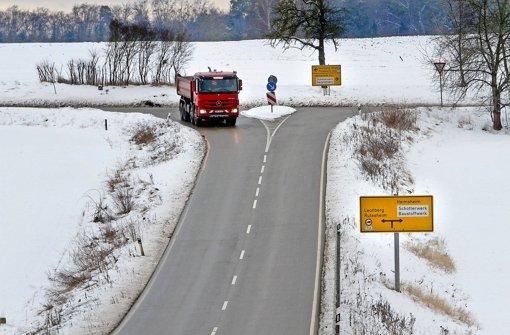 Die Einmündung der Heimsheimer Straße in die Querspange.  Foto: factum/Bach Foto: