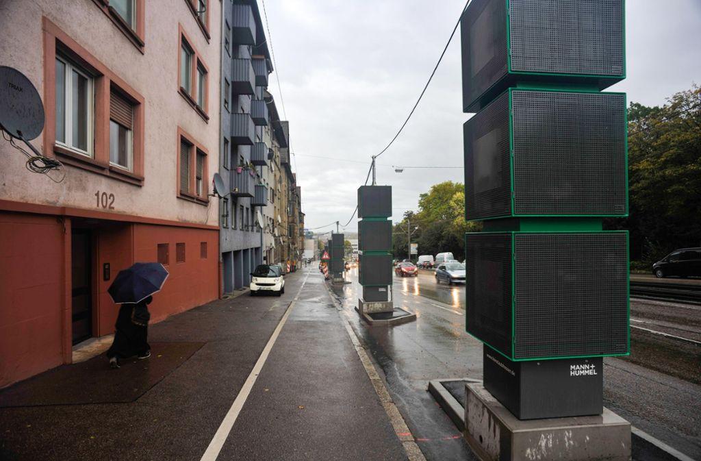 Luftreinigung an der  Pragstraße: Noch reicht es nicht ganz. Foto: Lichtgut/Max Kovalenko