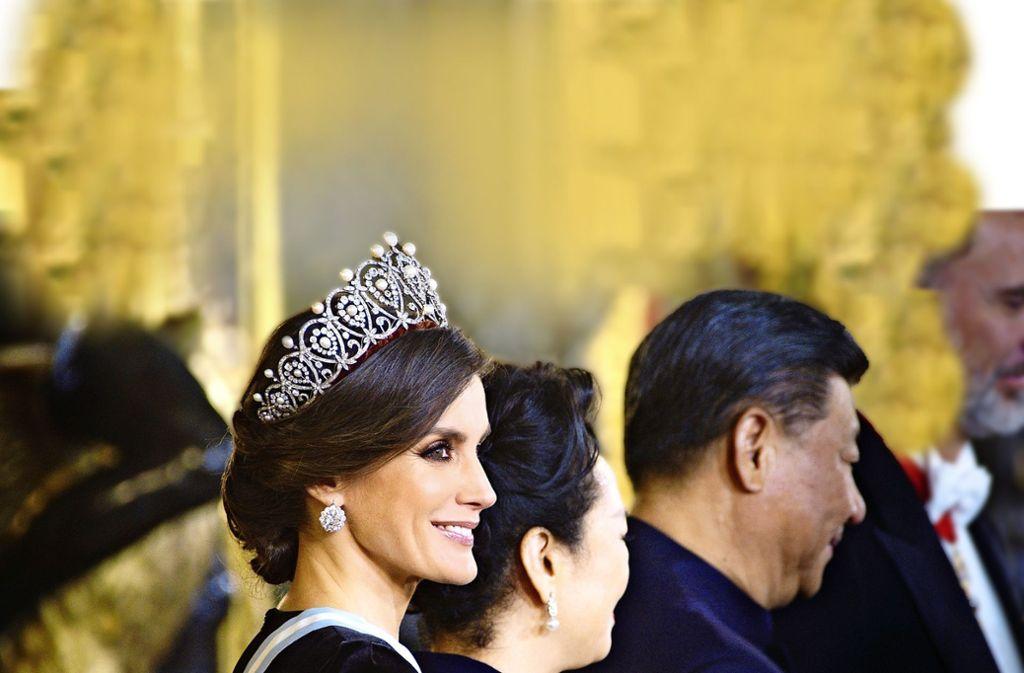 Die sozial engagierte Königin Letizia von Spanien sieht den Empfang von Staatsgästen als kleineren Teil ihrer Arbeit. Foto: ZDF/Jonas Köck