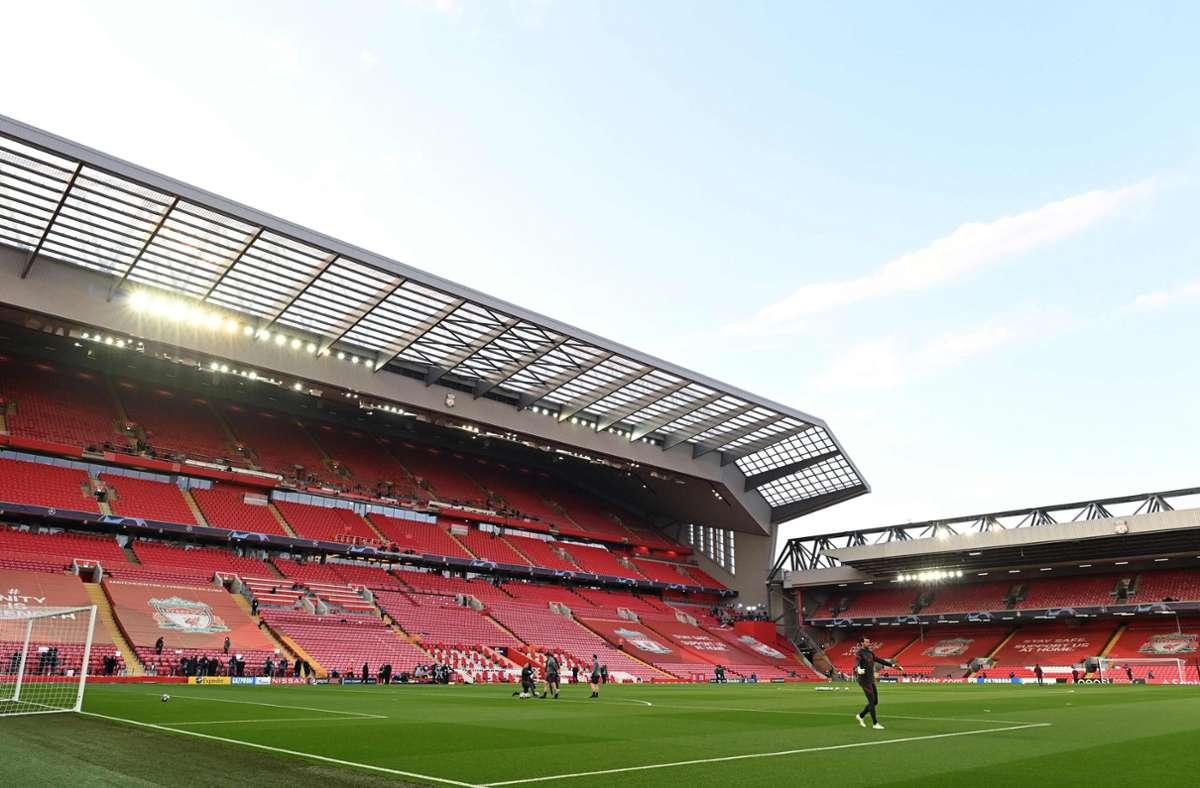 Vor dem Champions League Spiel an der Anfield Road kam es zu unschönen Szenen. Foto: AFP/PAUL ELLIS