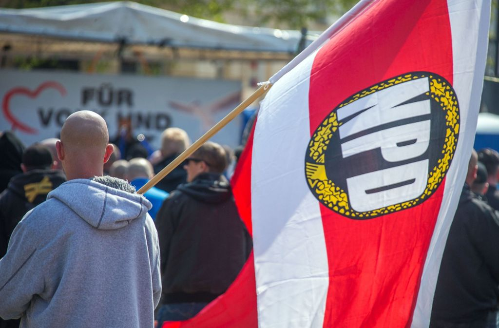 Die NPD wurde vom Bundesverfassungsgericht als verfassungsfeindlich eingestuft. Foto: dpa