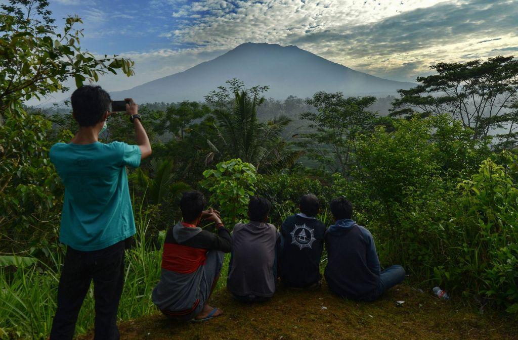 Der Vulkan Agung brodelt seit Tagen vor sich hin. Foto: AFP