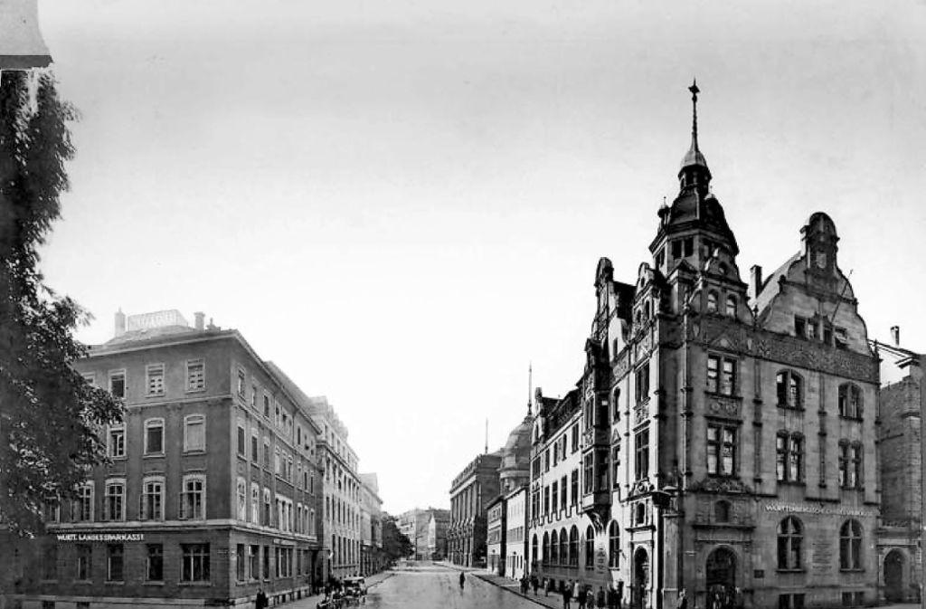 Auch die Württembergische Landessparkasse (links) war eines der Vorläuferinstitute der heutigen Landesbank LBBW. Foto: Fotos:Wirtschaftsarchiv Baden-Württemberg, Stuttgart