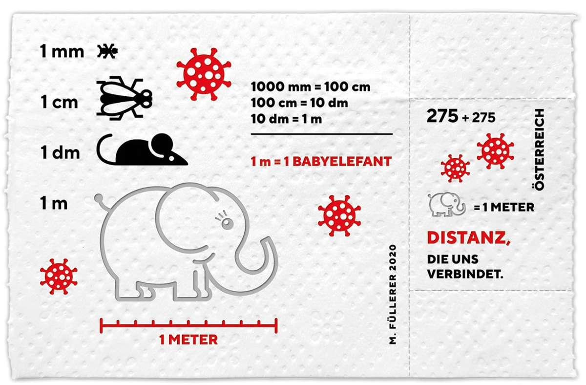 Die Post in Österreich hat eine Briefmarke aus Klopapier entworfen. Foto: dpa