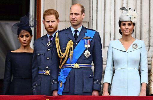 William, Harry, Kate und Meghan bleiben außen vor