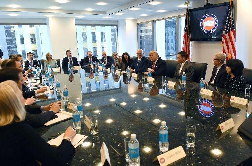 Trumps Kinder sitzen mit am Tisch