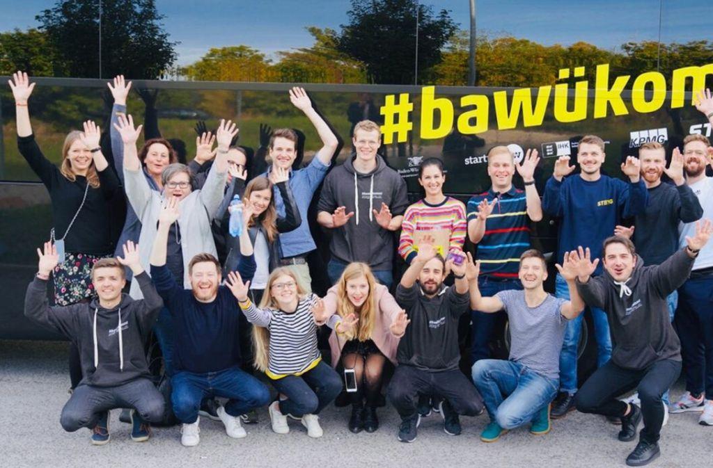 """Unter anderem mithilfe der inzwischen internationalen Bustour """"Bawükommt"""" will der Start-up-Standort Baden-Württemberg bekannter werden. Foto: Start-up BW/Moritz Rudolph"""