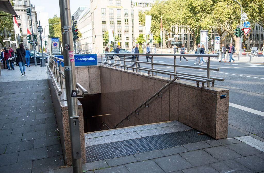 Ein Mann aus Karlsruhe wurde in der Nähe der Königsallee in Düsseldorf niedergestochen. Foto: dpa