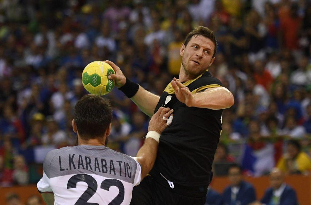 Balingens Martin Strobel feiert sein Comeback in der Nationalmannschaft Foto: dpa